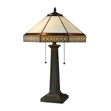 "Stone Filigree 24"" H Table Lamp with Empire Shade"