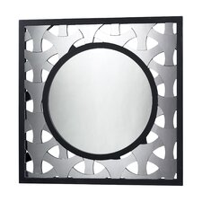 <strong>Dimond Lighting</strong> Stockholm Geometric Mirror in Black