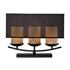 """Bakersfield 14"""" H Table Lamp with Drum Shade"""