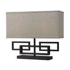 "Medford 15"" H Table Lamp with Rectangle Shade"