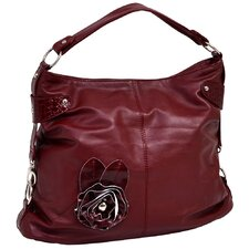 Crisanta Croco Embossed Faux Leather Large Hobo Bag