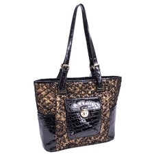 Farrah Quilted Croco Faux Leather Tote Bag