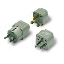 Lewis N. Clark Americas Grounded Adapter Plug