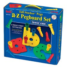 Tall - Stacker Pegs A - Z Pegboard Set (Lowercase)