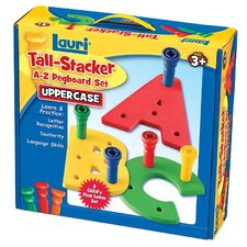 Tall - Stacker Pegs A - Z Pegboard Set (Uppercase)