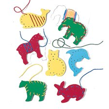 Lacing & Tracing Animals 7/pk