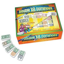 Double 18 Dominoes Game