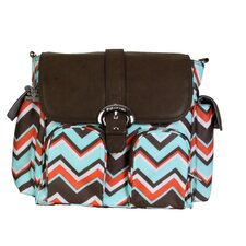 Chevron Stripes Coral Backpack