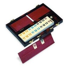 <strong>Wood Expressions</strong> Rummy Set Leatherette Case Game