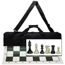 <strong>Wood Expressions</strong> Deluxe Tournament Chess Set in Canvas Bag