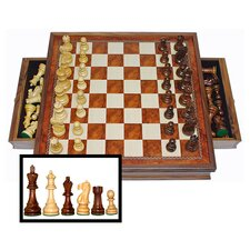 Camphor Chess Set with Drawers