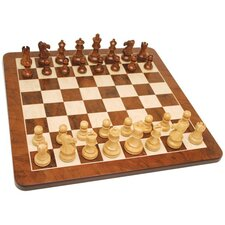 "<strong>Wood Expressions</strong> 19"" Root Chess Set in Walnut"