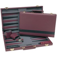 Backgammon in Burgundy / Black