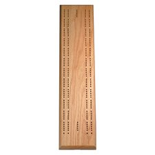 Two Track Competition Cribbage Board in Oak