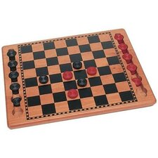 Wood Checkers Set Game