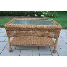 Resin Wicker Rectangle Coffee Table