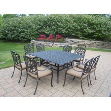 "Hampton 60"" Square 9pc Dining Set with Cushions"