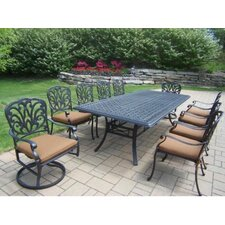 "Hampton 102"" x 46"" 11pc Dining Set with Cushions"