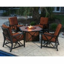 Haywood 5 Piece Deep Seating Group with Cushions