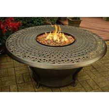 Charleston Gas Firepit in Antique Bronze