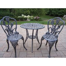 <strong>Oakland Living</strong> Tulip 3 Piece Bistro Set