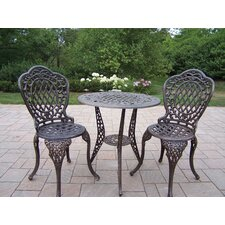 <strong>Oakland Living</strong> Mississippi 3 Piece Bistro Set