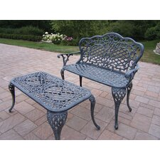 Mississippi 2 Piece Bench Seating Group Set