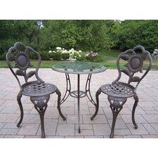 <strong>Oakland Living</strong> Sunflower 3 Piece Bistro Set