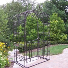 Gothic Arbor with Gate