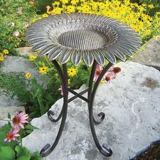 Sunflower Bird Bath on Tower Base
