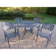 Tea Rose 5 Piece Dining Set
