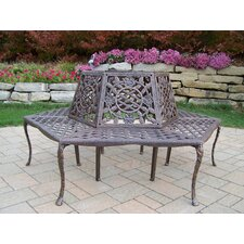 <strong>Oakland Living</strong> Tea Rose Aluminum Tree Bench