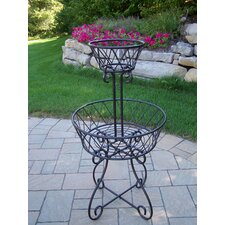 2 Tier Round Basket Planter