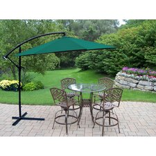 <strong>Oakland Living</strong> Hummingbird Mississippi Swivel Bar Set with Umbrella