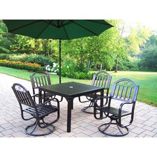 <strong>Oakland Living</strong> Rochester Swivel Dining Set with Umbrella