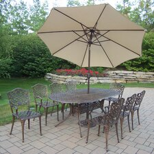 Mississippi Oval Dining Set with Umbrella