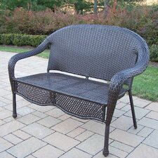 Elite Resin Wicker and Metal Garden Bench