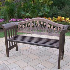 <strong>Oakland Living</strong> Tulip Royal Aluminum Garden Bench