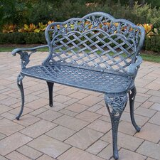 <strong>Oakland Living</strong> Tea Rose Aluminum Garden Bench
