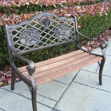 <strong>Oakland Living</strong> Angel Kiddy Wood and Cast Iron Park Bench