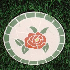 Mosaic Rose Stepping Stone