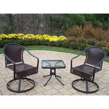 <strong>Oakland Living</strong> Tuscany 3 Piece Swivel Dining Set
