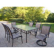 <strong>Oakland Living</strong> Sling 7 Piece Dining Set
