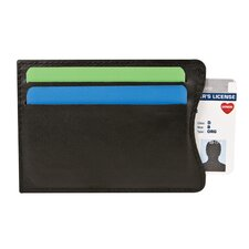 RFID Blocking Leather Money Clip Wallet