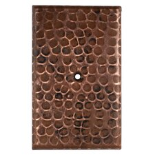 Blank Hand Hammered Copper Switch Plate Cover