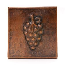 "4"" x 4"" Copper Grape Tile in Oil Rubbed Bronze"