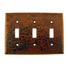 <strong>Premier Copper Products</strong> Copper Switchplate Triple Toggle Switch Cover in Oil Rubbed Bronze