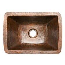 "17"" x 12"" Rectangle Copper Bar Sink"