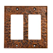 <strong>Premier Copper Products</strong> Copper Double Ground Fault / Rocker GFI Switchplate Cover in Oil Rubbed Bronze