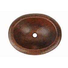 <strong>Premier Copper Products</strong> Oval Self Rimming Bathroom Sink